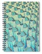 Abstract Green Glass Bottles Spiral Notebook