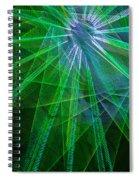 Abstract Green Lights Spiral Notebook