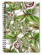 Abstract Green Plant Spiral Notebook