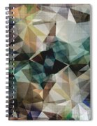 Abstract Grunge Triangles Spiral Notebook