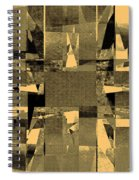 Abstract Halftone  Spiral Notebook