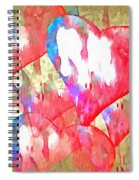Abstract Hearts 16 Spiral Notebook