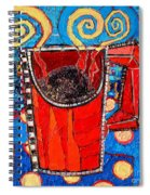 Abstract Hot Coffee In Red Mug Spiral Notebook