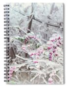 Abstract Ice Covered Shrubs Spiral Notebook
