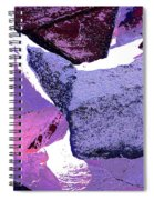 Abstract In Purple Spiral Notebook