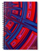 Abstract In Red And Blue Spiral Notebook