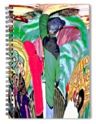 Abstract Inca Warriors Past Present And Future Spiral Notebook