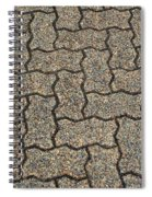 Abstract Interlocking Pavement Spiral Notebook
