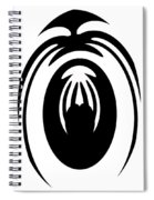 Abstract Jellyfish Black And White Digital Painting Spiral Notebook