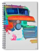 Abstract Jimmy Spiral Notebook