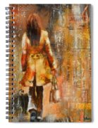 Abstract Lady  5 Spiral Notebook