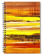 Abstract Landscape Found Reflections Spiral Notebook