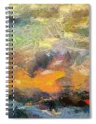Abstract Landscape II Spiral Notebook