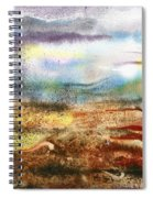 Abstract Landscape Morning Mist Spiral Notebook