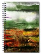 Abstract Landscape Sunrise Sunset Spiral Notebook