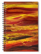 Abstract Landscape Yellow Hills Spiral Notebook