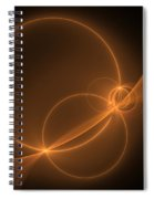 Abstract Light Flight Spiral Notebook
