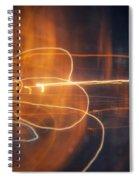 Abstract Light Streaks Spiral Notebook
