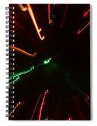 Abstract Lights Spiral Notebook