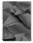 Abstract - Lines - Path To Destruction Spiral Notebook
