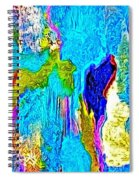 Abstract Melting Planet Spiral Notebook