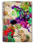 Abstract Mixed Media Spiral Notebook