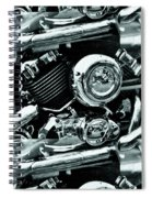 Abstract Motor Bike - Doc Braham - All Rights Reserved Spiral Notebook