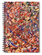 Abstract - Nail Polish - Clown Suicide Spiral Notebook