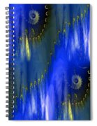 Abstract Nautilus Spiral Notebook