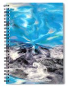 Abstract Nine Of Twenty One Spiral Notebook