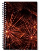 Abstract Of Fireworks On Black Spiral Notebook