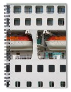 Abstract Of Lifeboats On A Large Cruise Ship Spiral Notebook