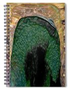 Abstract Of Penguins On Ice Spiral Notebook