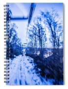 Abstract On A Ski Lift Spiral Notebook