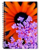 Abstract Orange And Purple Flower Spiral Notebook