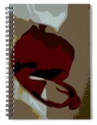 Abstract Orchid Spiral Notebook