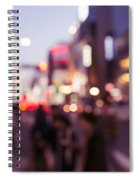 Abstract Out-of-focus City Scenery With Colorful Lights Spiral Notebook