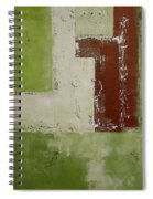 Abstract Painting Green 13013 Spiral Notebook