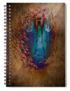Abstract Path Spiral Notebook