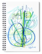 Abstract Pen Drawing Fifty-eight Spiral Notebook