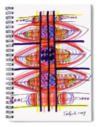 Abstract Pen Drawing Fifty Spiral Notebook