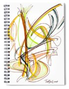 Abstract Pen Drawing Fifty-nine Spiral Notebook