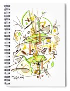 Abstract Pen Drawing Fifty-seven Spiral Notebook