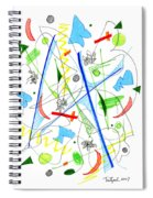 Abstract Pen Drawing Fifty-three Spiral Notebook