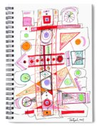 Abstract Pen Drawing Fifty-two Spiral Notebook
