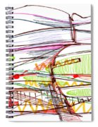 Abstract Pen Drawing Forty-five Spiral Notebook