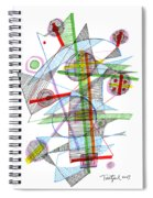 Abstract Pen Drawing Forty-nine Spiral Notebook