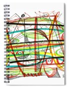 Abstract Pen Drawing Forty-seven Spiral Notebook