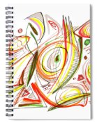 Abstract Pen Drawing Forty-six Spiral Notebook
