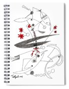 Abstract Pen Drawing Seventy-eight Spiral Notebook